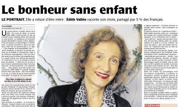 Le bonheur sans enfant – Le portrait. Elle a refusé d'être mère : Édith Vallée raconte son choix, partagé par 5% des Français. Le Courrier de l'ouest