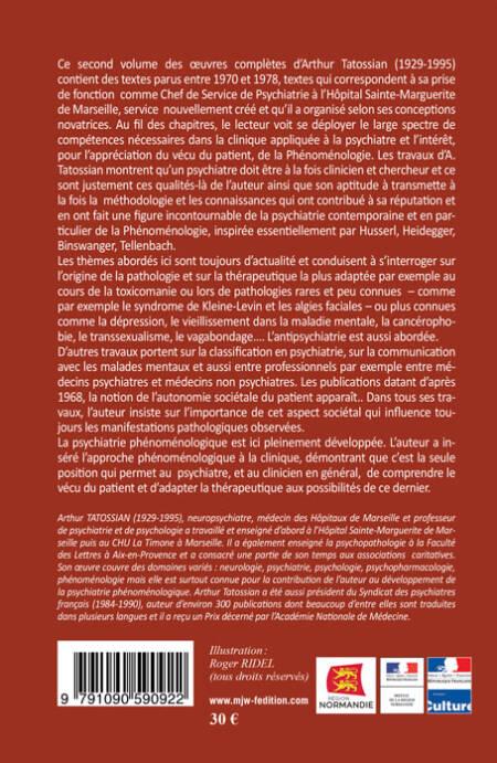 A TATOSSIAN - Oeuvres complètes - Tome 2 - Quatrième de couverture